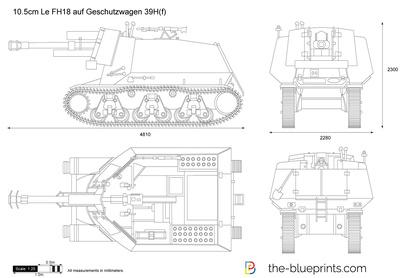 10.5cm Le FH18 auf Geschutzwagen 39H(f)