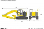 Kobelco 215SR Hydraulic Excavator