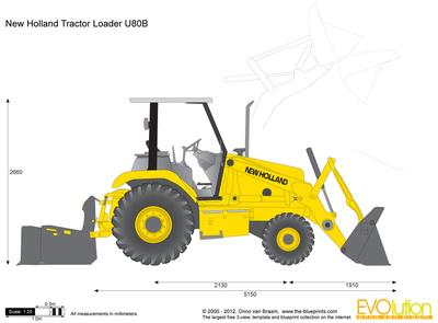 New Holland Tractor Loader U80B