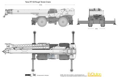Terex RT130 Rough Terrain Crane