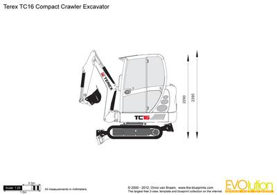 Terex TC16 Compact Crawler Excavator