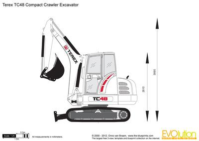 Terex TC48 Compact Crawler Excavator