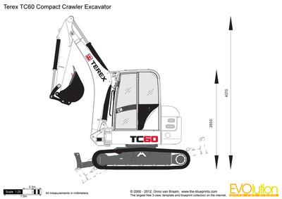 Terex TC60 Compact Crawler Excavator