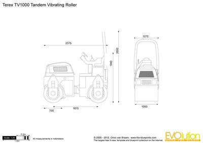 Terex TV1000 Tandem Vibrating Roller