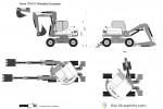 Terex TW110 Wheeled Excavator
