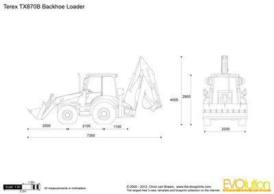 Terex TX870B Backhoe Loader