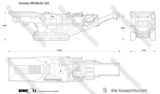 Komatsu BR380JG-1E0 Mobile Crusher