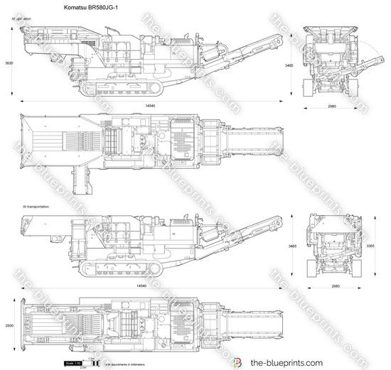 Komatsu BR580JG-1 Mobile Crusher