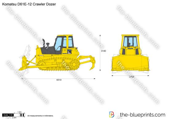 Komatsu D61E-12 Crawler Dozer