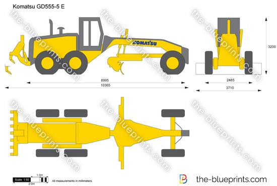 Komatsu GD555-5 Motor Grader
