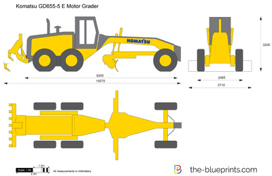 Komatsu GD655-5 Motor Grader