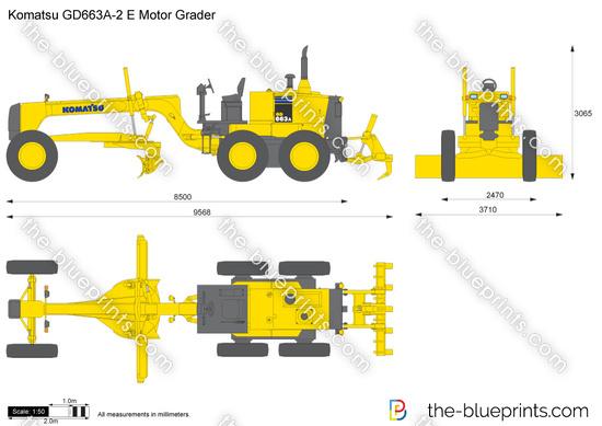 Komatsu GD663A-2 Motor Grader