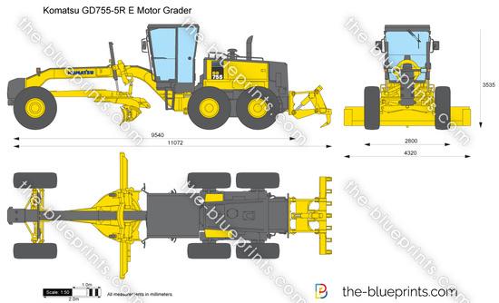 Komatsu GD755-5R Motor Grader