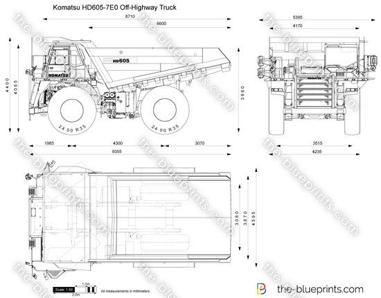 Komatsu HD605-7E0 Off-Highway Truck