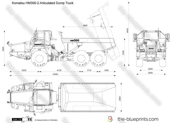 Komatsu HM300-2 Articulated Dump Truck