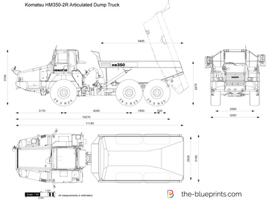 Komatsu HM350-2R Articulated Dump Truck