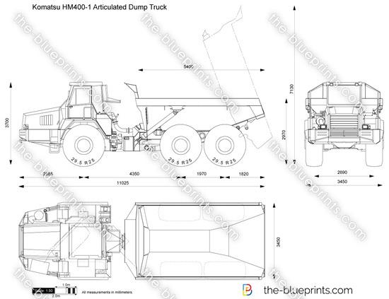 Komatsu HM400-1 Articulated Dump Truck
