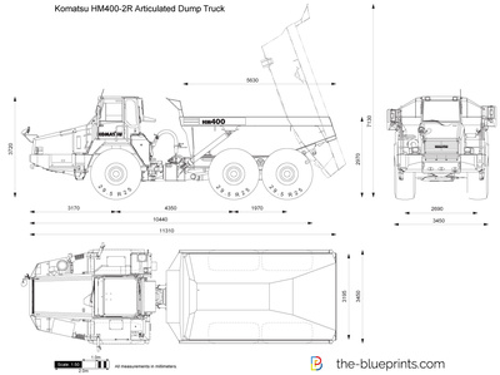 Komatsu HM400-2R Articulated Dump Truck