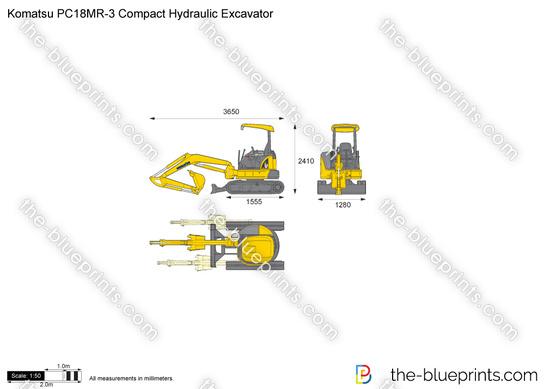 Komatsu PC18MR-3 Compact Hydraulic Excavator