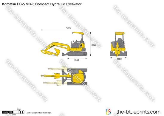 Komatsu PC27MR-3 Compact Hydraulic Excavator