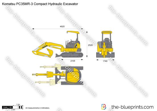 Komatsu PC35MR-3 Compact Hydraulic Excavator