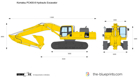Komatsu PC400-8 Hydraulic Excavator