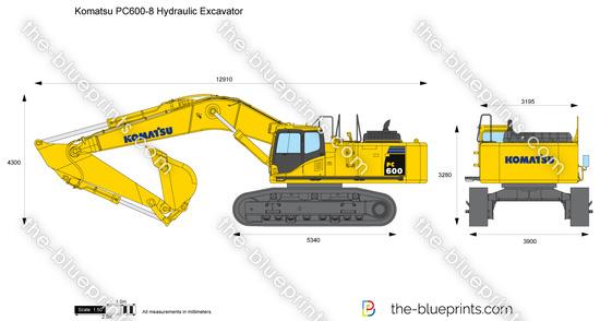 Komatsu PC600-8 Hydraulic Excavator