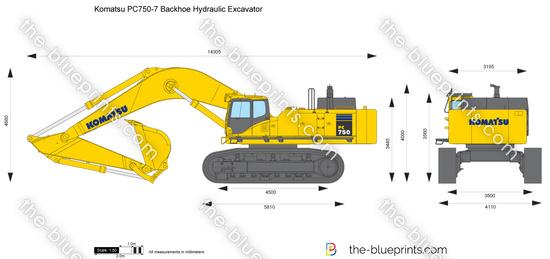 Komatsu PC750-7 Backhoe Hydraulic Excavator