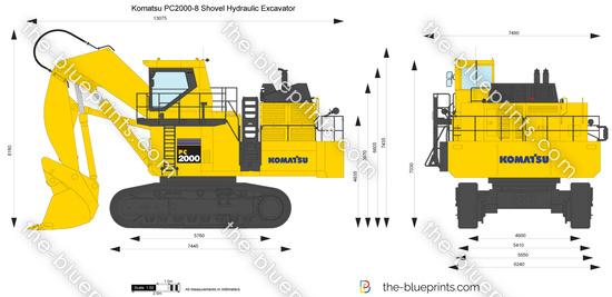 Komatsu PC2000-8 Shovel Hydraulic Excavator