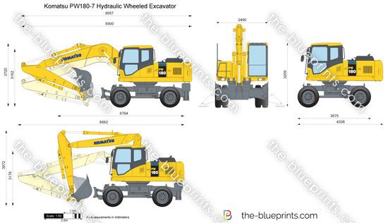 Komatsu PW180-7 Hydraulic Wheeled Excavator