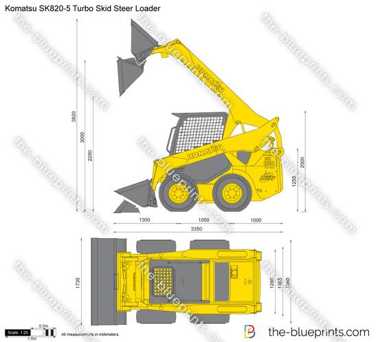 Komatsu SK820-5 Turbo Skid Steer Loader