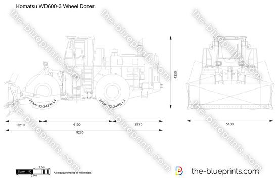 Komatsu WD600-3 Wheel Dozer