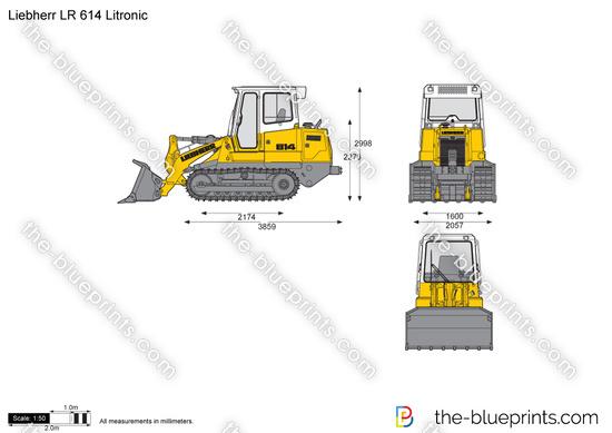 Liebherr LR 614 Litronic Crawler Loader