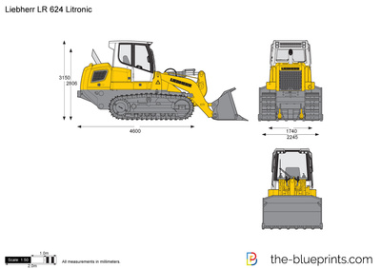 Liebherr LR 624 Litronic Crawler Loader