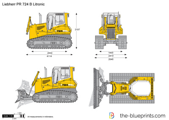 Liebherr PR 724 B Litronic Crawler Tractor