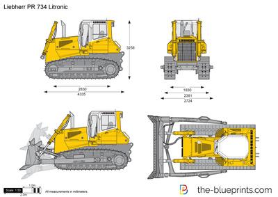 Liebherr PR 734 Litronic Crawler Tractor