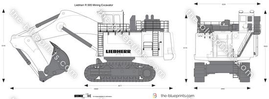 Liebherr R 995 Mining Excavator