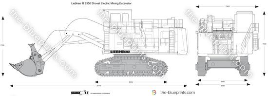 Liebherr R 9350 Shovel Electric Mining Excavator