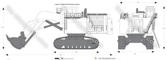 Liebherr R 9800 Shovel Mining Excavator