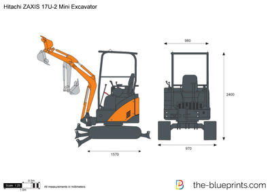 Hitachi ZAXIS 17U-2 Mini Excavator