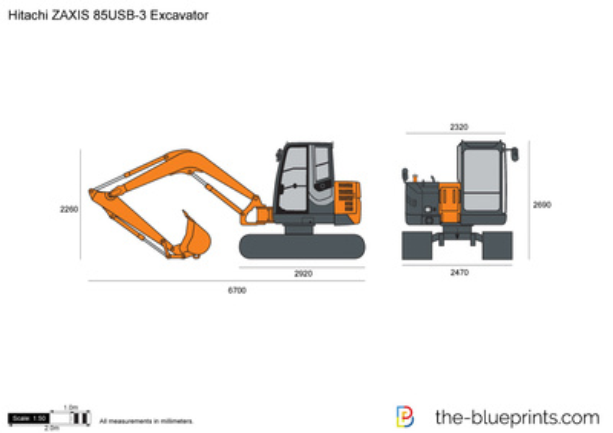 Hitachi ZAXIS 85USB-3 Excavator