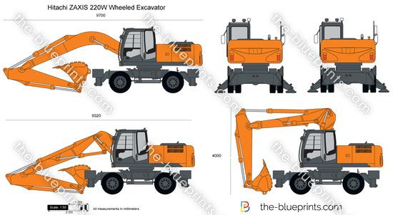 Hitachi ZAXIS 220W Wheeled Excavator