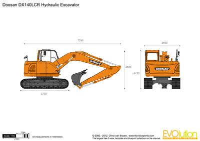 Doosan DX140LCR Hydraulic Excavator