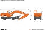 Doosan DX210W One-Piece Boom Hydraulic Excavator