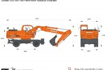 Doosan DX210W Two-Piece Boom Hydraulic Excavator