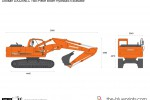 Doosan DX225NLC Two-Piece Boom Hydraulic Excavator