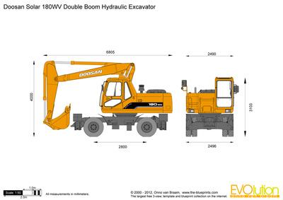 Doosan Solar 180WV Double Boom Hydraulic Excavator