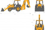 JCB 3CX 17ft Backhoe Loader