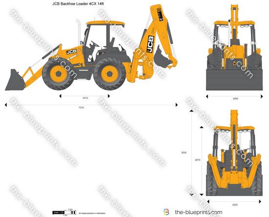 JCB 4CX 14ft Backhoe Loader