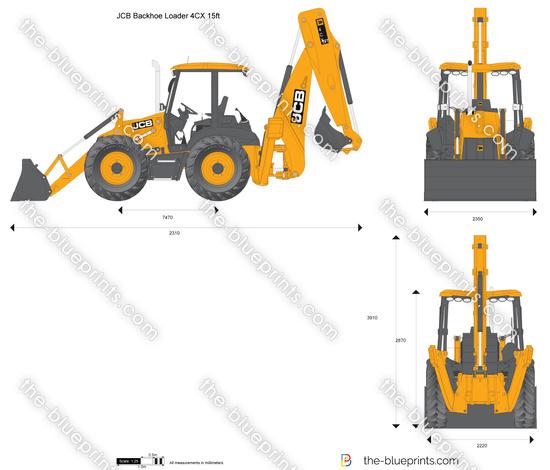 JCB 4CX 15ft Backhoe Loader